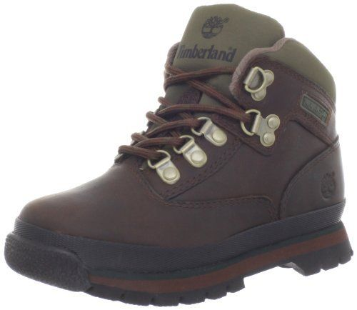 Timberland Euro Hiker Boot (Toddler/Little Kid/Big Kid) Timberland. $55.02. leather. Upper: Full Grain Leather. Outsole: Rubber. Fit: True to Size. Rubber sole