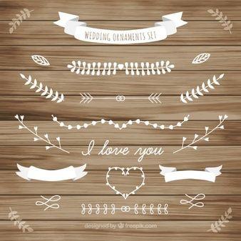 Enfeite de casamento branco da coleção folhas