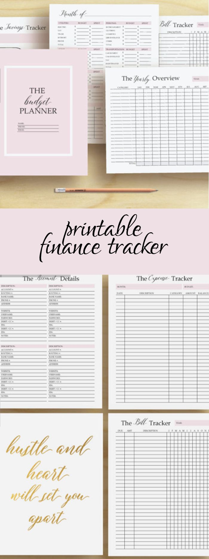 Bill tracker, financial planner and it's pink and gold. I. Love. It.