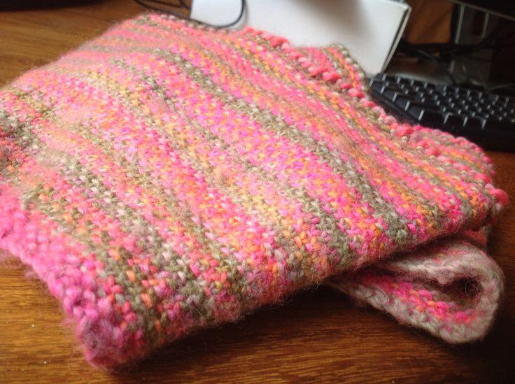 Linen stitch cowl made from autumn moda Vera