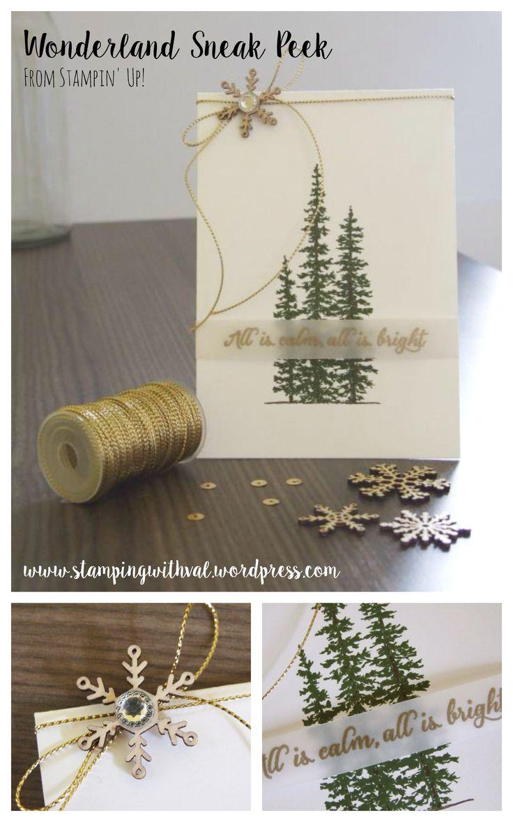 Wonderland, stampin up, trees, Christmas