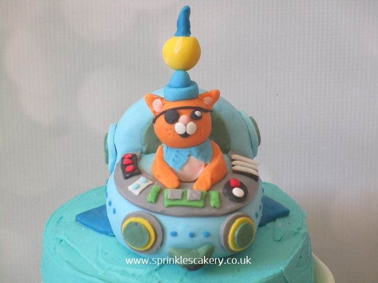 A Handmade edible Captain Barnacles topper to finish off a CBeebies Octonauts cake.