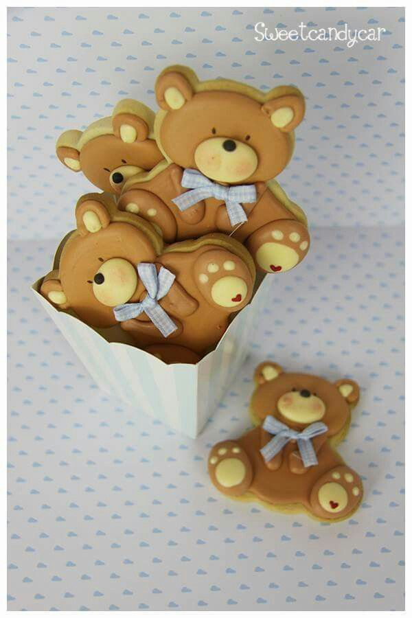 Edible Art. Teddy bear cookies | Ositos