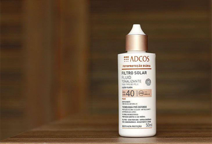 Protetor solar Fluid Tonalizante efeito mate FPS40 Adcos » Coisas de Diva