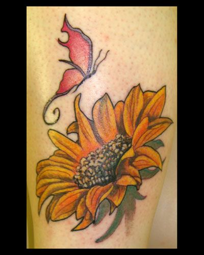1000 images about sunflower tattoo on pinterest for Sunflower tattoo thigh