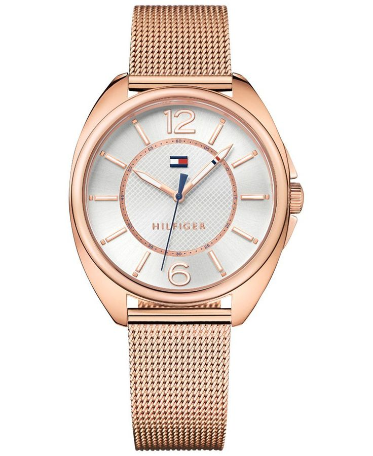 Tommy Hilfiger Women's Sophisticated Sport Rose Gold-Tone Stainless Steel Mesh Bracelet Watch 38mm 1781697