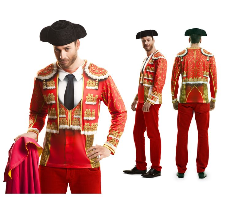 #Camiseta #Disfraz de #Torero para el #DíadelPadre. #fathersday #costume #gift #regalo #bullfighter