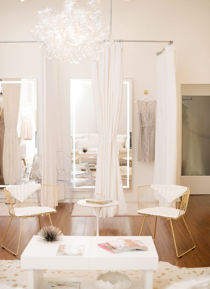 Bridal salon with white and gold décor