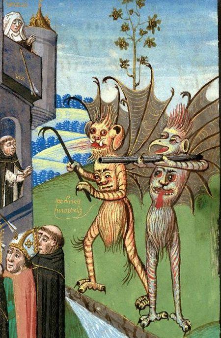 'The Fortress of Faith': Valenciennes - BM - ms. 0244 f. 027. Alphonsus de Spina, La Forteresse de la foi. France, 15th century.