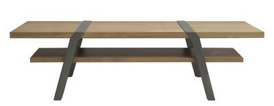 Table basse Pi / 160 x 60 cm Gris Canon de fusil - Moaroom - Décoration et mobilier design avec Made in Design