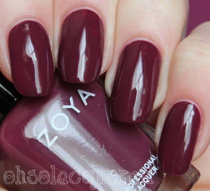 matte oxblood nails - nail ftempo