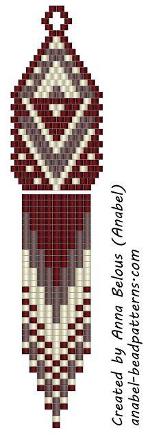 Scheme-mosaic earrings weaving / Peyote earrings - free beading pattern