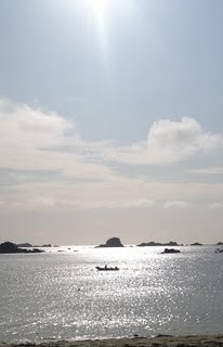Isles of Scilly - beautiful . Islands set in a silver sea. Cornwall England