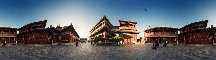 Panorama vom Lamatempel Yonghegong in Beijing