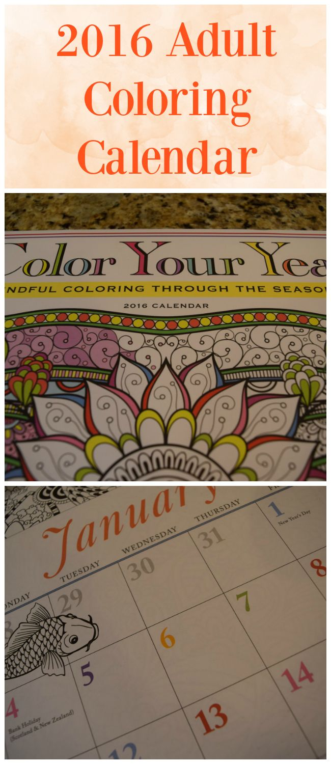 a review of the 2016 adult coloring calendar color your year this is a
