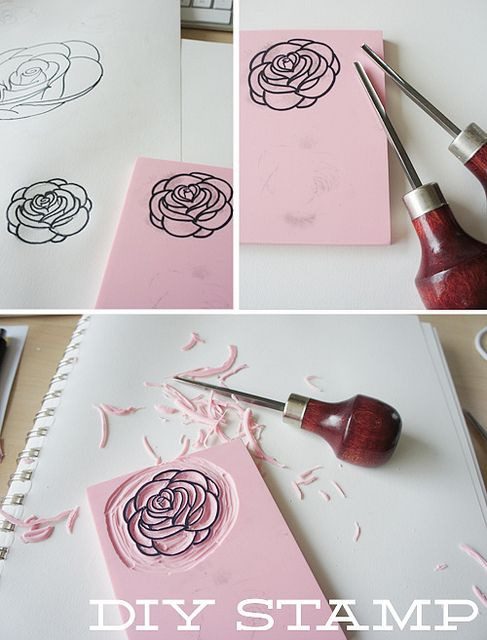 Incredibly easy diy stamps! Perfect for customizing cards of just crafting!