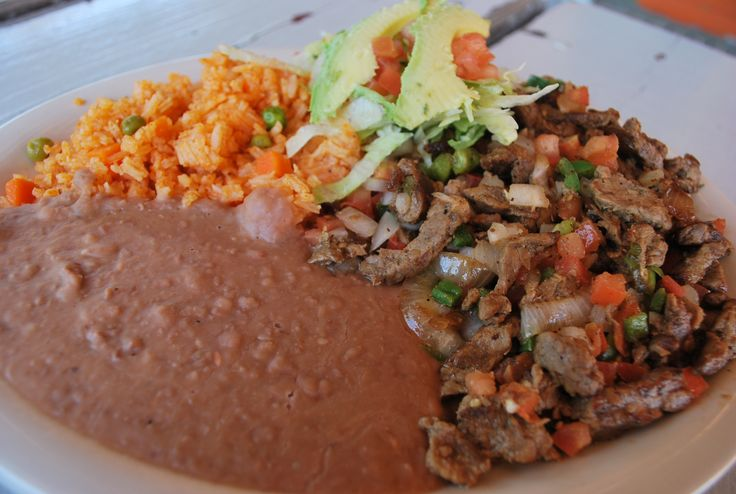 today s lunch suggestion our carne asada a la mexicana