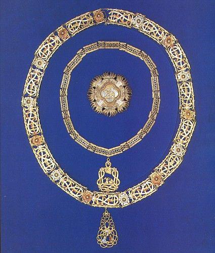 Insegne da Cavaliere della Santissima Annunziata di Re Vittorio Emanuele III di Savoia