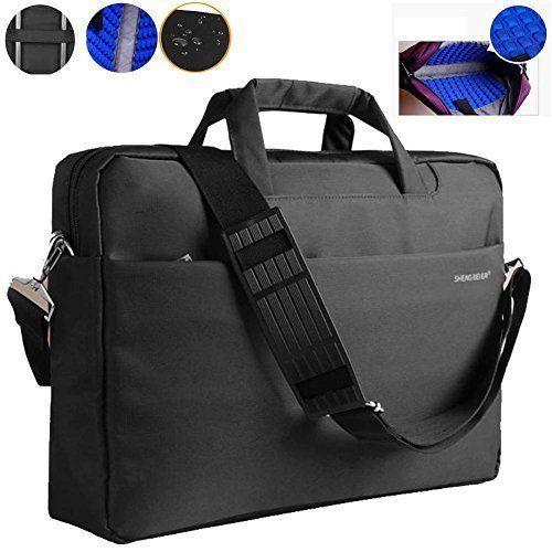 Laptop Bag 15.6'' Carrying Case Waterproof Shockproof Briefcase Messenger Black #LaptopBag