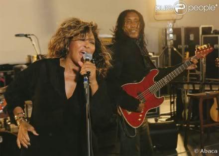 Tina Turner and she and Ike's son, Ronnie Turner