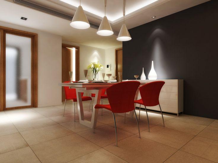 Imagen de pisos y azulejos de salas de estar comedor for Sala de estar segundo piso