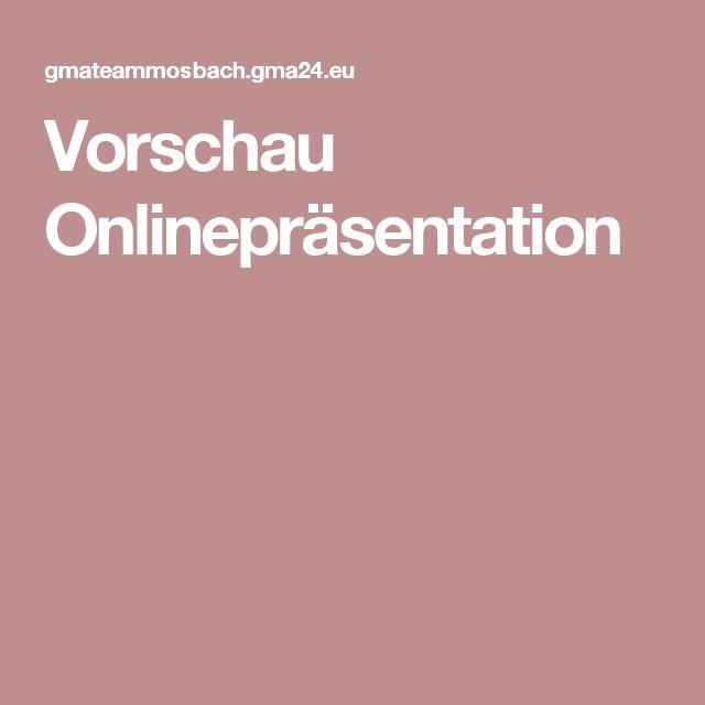 Vorschau Onlinepräsentation