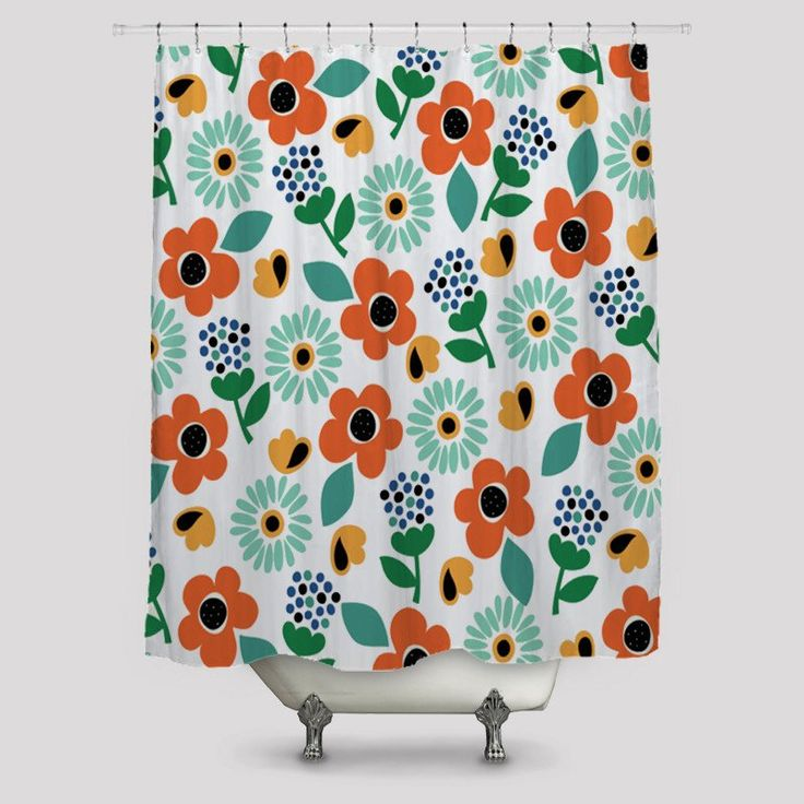Roses Pattern Shower Curtains