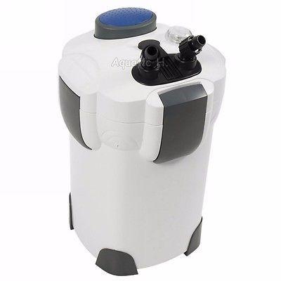 200 Gallon Aquarium Fish Tank External Canister Filter UV 9w Sterilizer 3-Stage