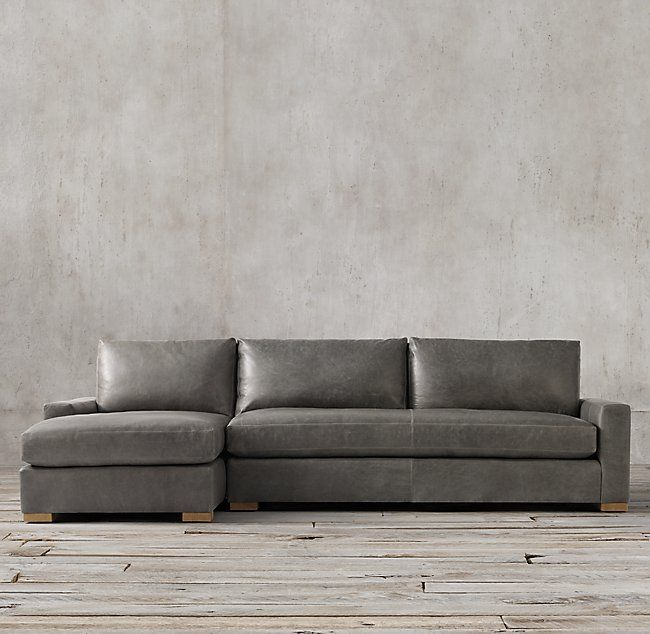 Maxwell Leather Sofa Chaise Sectional in 2020 (With images