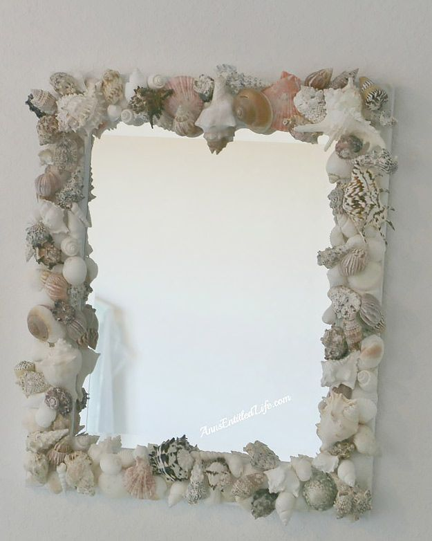76 Crafts To Make and Sell - Easy DIY Ideas for Cheap Things To Sell on Etsy, Online and for Craft Fairs. Make Money with These Homemade Crafts for Teens, Kids, Christmas, Summer, Mother's Day Gifts. |  Sea Shell Mirror  |  diyjoy.com/crafts-to-make-and-sell