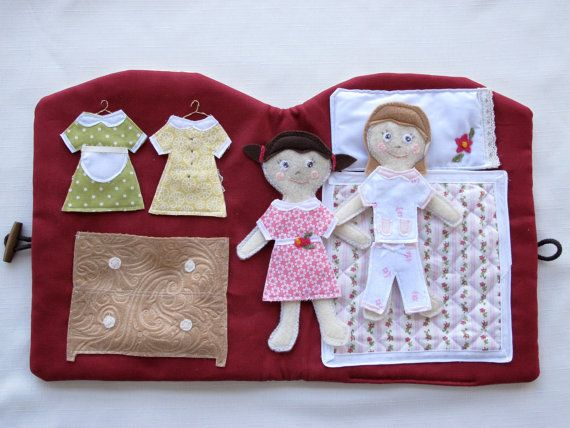 Handmade Quiet Book Doll House Book Travel and by thebuslbarn, $85.00
