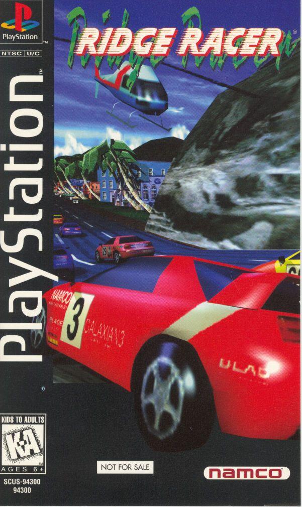 Japanese cover for classic 1994 PS1 drift racer Ridge Racer