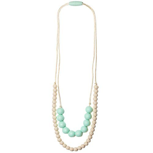Mama & Little Deila Silicone Baby Teething Necklace for Moms - Nursing Necklace in Sweet Mint - Teething Beads and Baby Teething Toys Mama & Little http://smile.amazon.com/dp/B00KC1JG2A/ref=cm_sw_r_pi_dp_i0PMwb11K1768