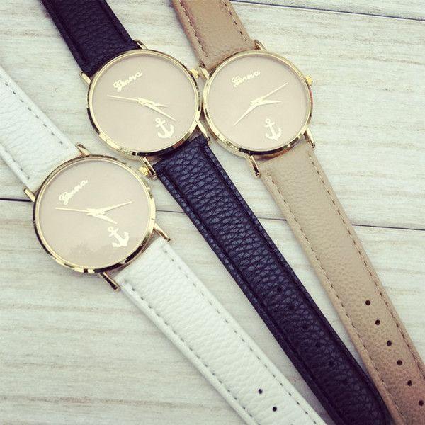 Anker+Uhr,Leder+Uhr+von+womencreations+auf+DaWanda.com