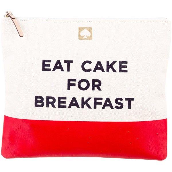 Pre-owned Kate Spade New York Adrianne Eat Cake For Breakfast Clutch ($65) ❤ liked on Polyvore featuring bags, handbags, clutches, neutrals, purse clutches, woven handbags, white hand bags, hand woven bags and cream purse