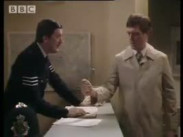 One of my favorite Hugh Laurie and Stephen Fry comedy sketches: Your name, sir?