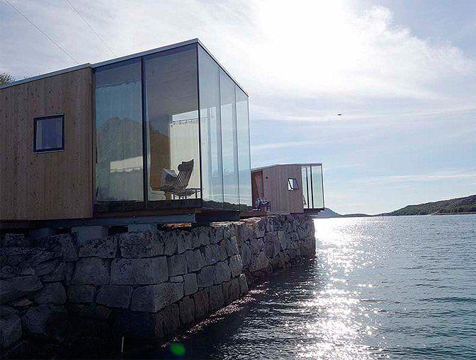 Sea Cabins, Manshausen Island, Norway | cabin rentals