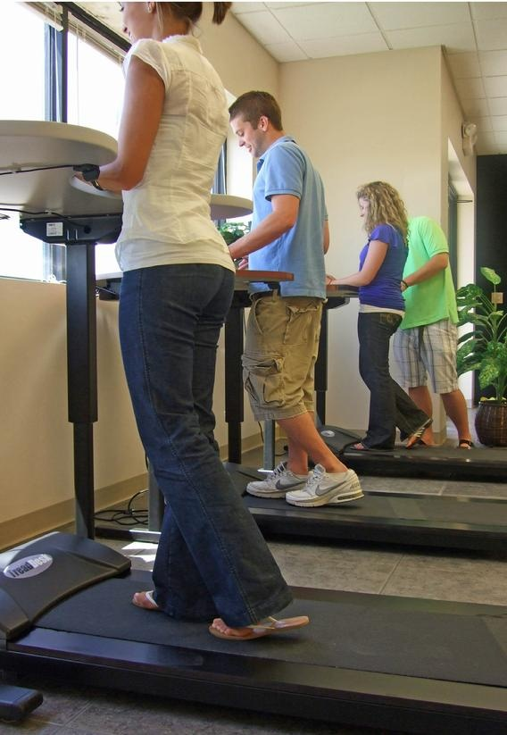 It's called a TreadDesk and it is amazing.