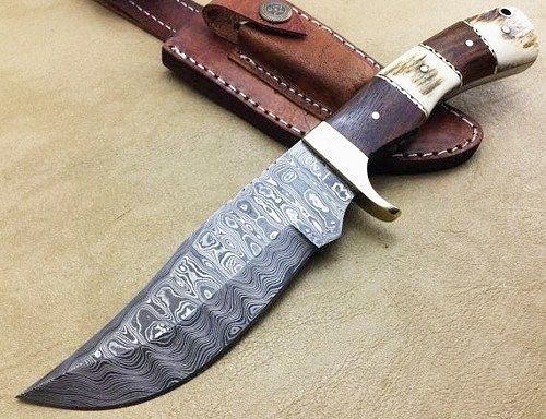 Damascus hunting knife for sale PM me for further details