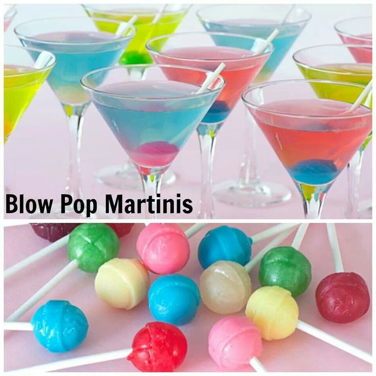 Blow Pop Martinis: 2/3 cup frozen lemonade concentrate, thawed and strained to remove solids 1 1/3 cups water 1 1/2 cup bubble-gum flavored vodka 4 tbsp sour apple, sour watermelon or berry blue sour liqueur 12 small lollipops