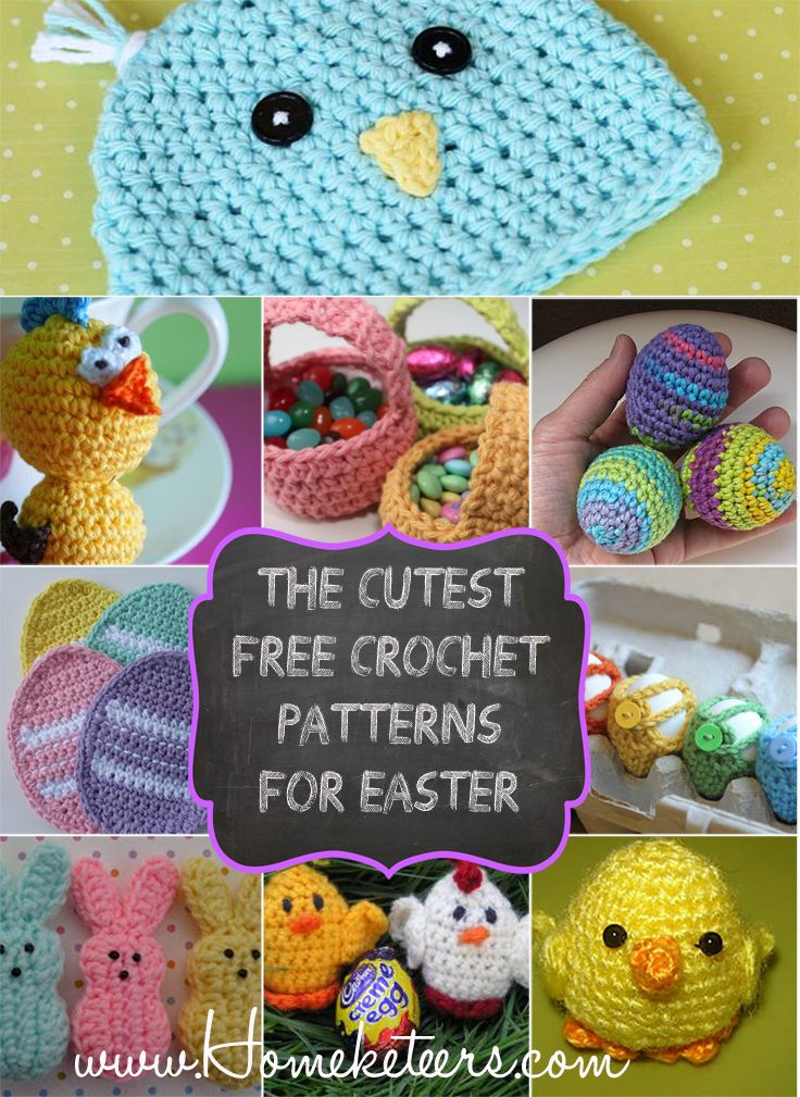 The Cutest Free Crochet Patterns for Easter