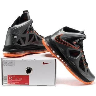 www.asneakers4u.com/ Nike Zoom Lebron 10 X Shoes Black/Gray/