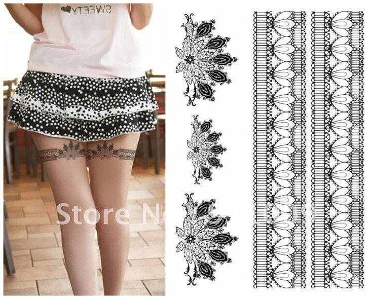 Classy lace garter tattoo