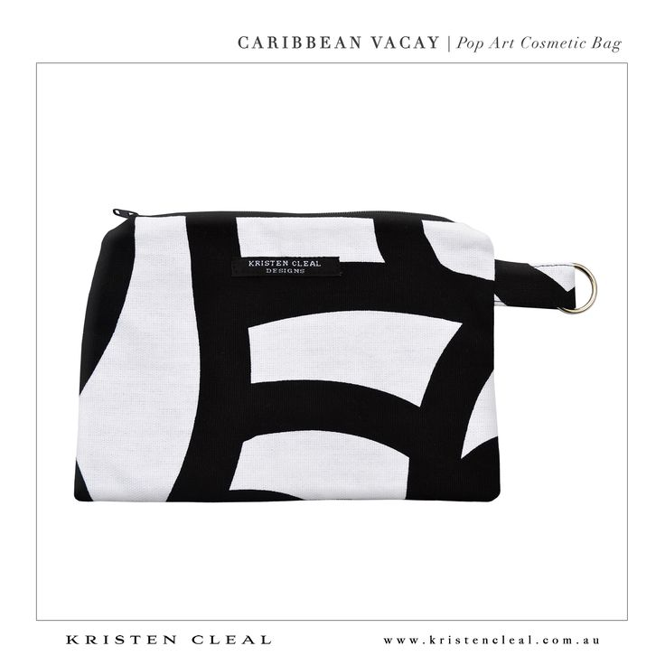 Pop Art Cosmetic Bag by Kristen Cleal Designs  Caribbean Vacay 2014 Collection