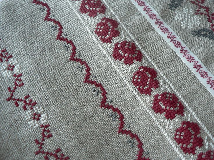 cross stitch - Rose - Scallops Border