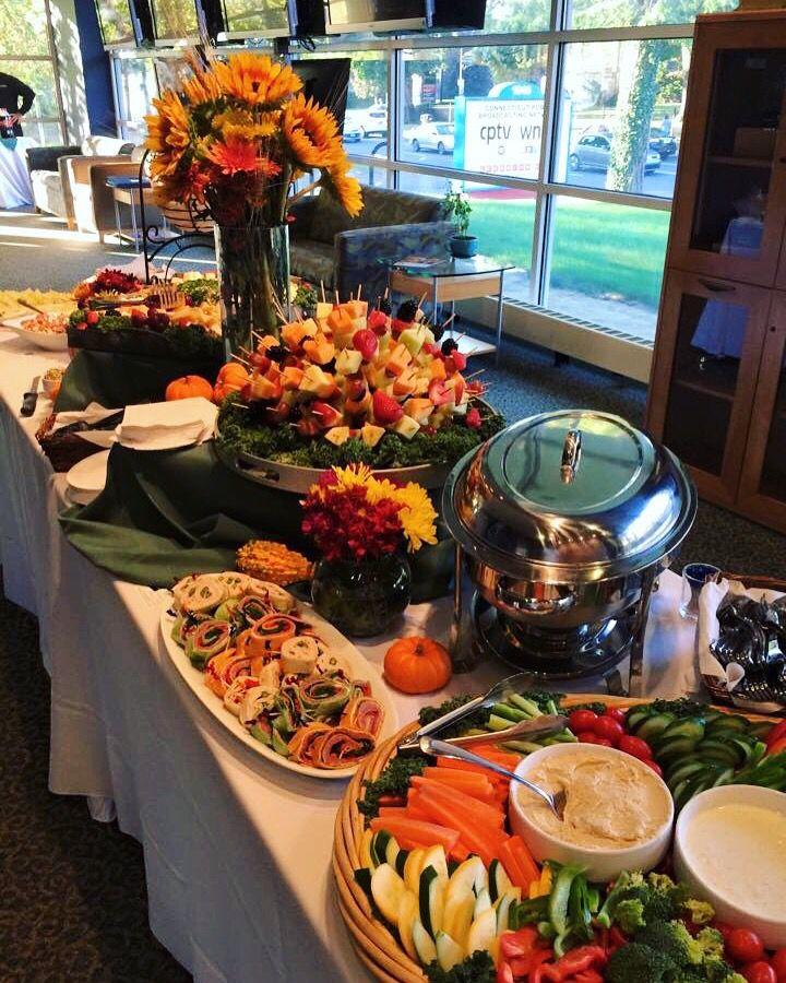 Catering setup by Harvest Cafe