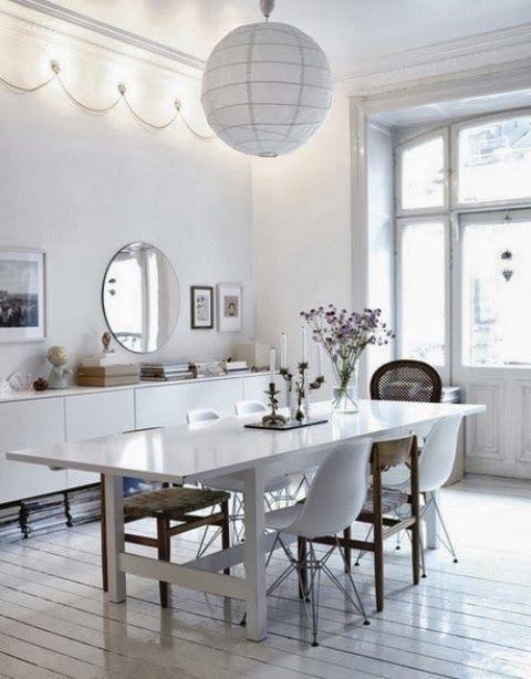 beyaz renk dekorasyon