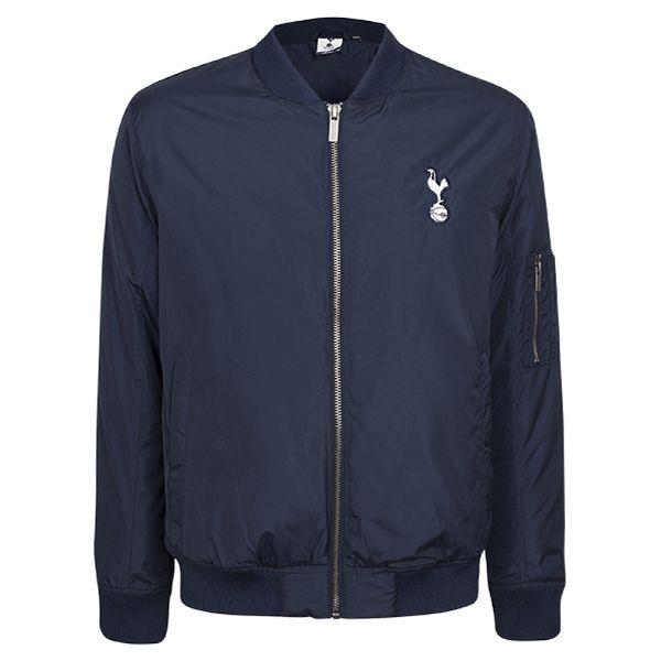 Spurs Mens Navy Bomber Jacket   Official Spurs Shop