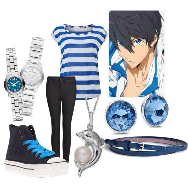 """Haruka Nanase"" by theearlmustang on Polyvore"