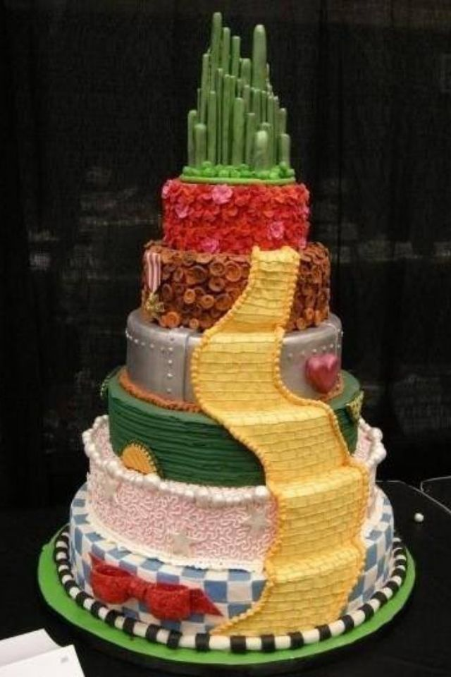 Cool cake #wizardofoz I've been obsessed since I watched it, mind you i watched it not long ago